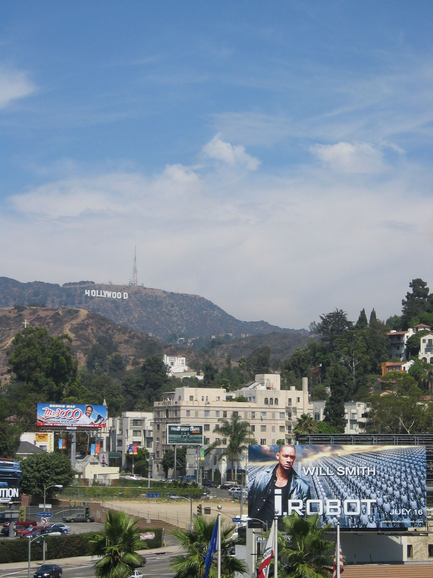 L.A. - Walk of Fame - View to Hollywood Hills